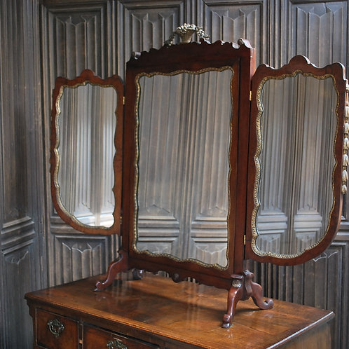 Large Triptych Dressing Table Mirror