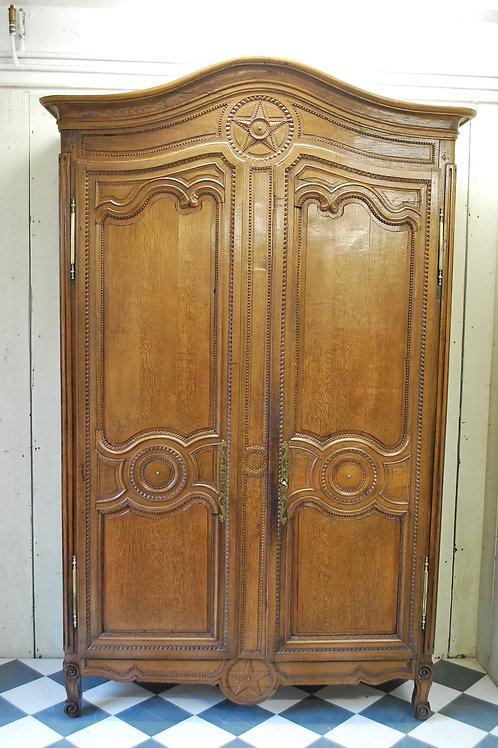 Antique oak French armoire