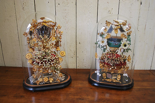 Pair of French Wedding Displays c.1900