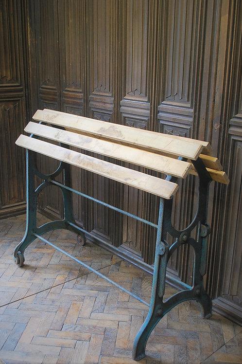 Antique Wrough Iron French Saddle Rack
