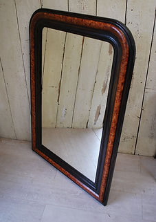 French Faux Painted Overmantle Mirror.JP