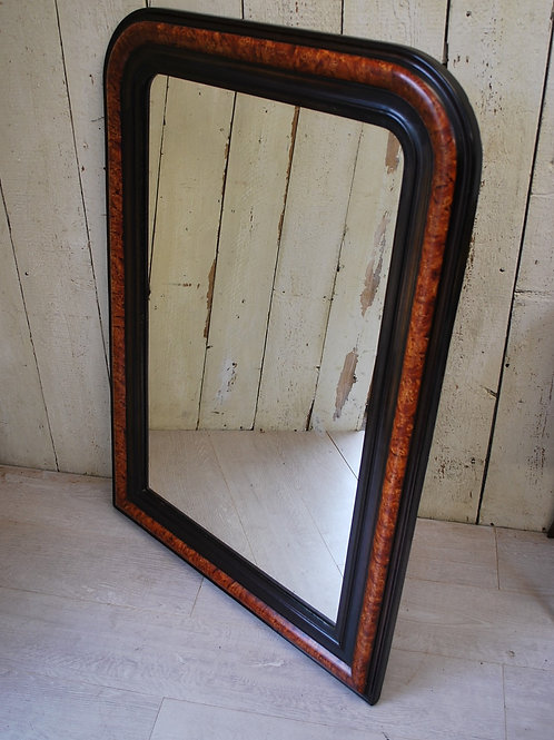 French Faux Painted Overmantle Mirror