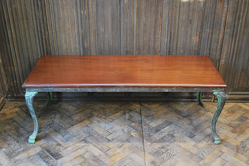 Antique French iron coffee table