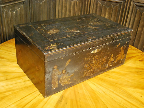 Regency Chinoiserie Japanned box