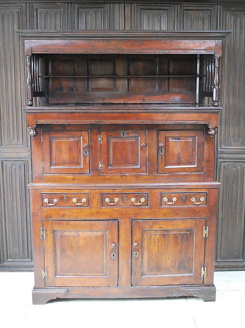 Antique Welsh Oak Tridarn Cupboard