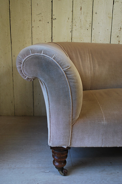 Antique English Upholstered Chesterfield Sofa