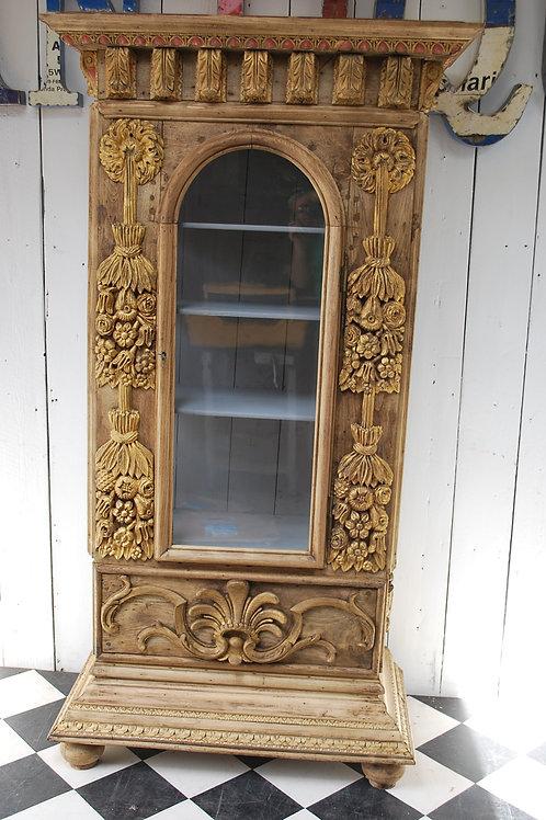 Carved oak Display cabinet