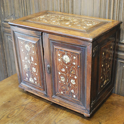 Early antique Italian table cabinet