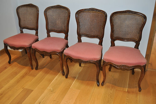 Antique Set of 4 French Chairs/Fauteils