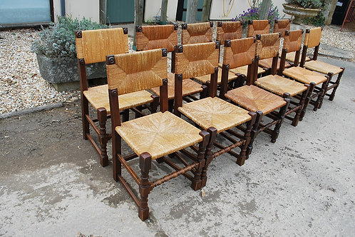 Set of 12 French Country Chairs