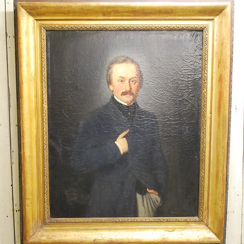 Large Antique oil Painting of An English Victorian Gentleman