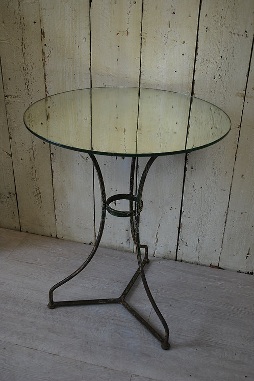 Antique French Bistro Table/ lamp table