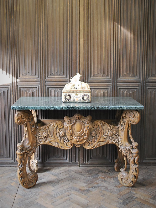 Italian Carved Console Table