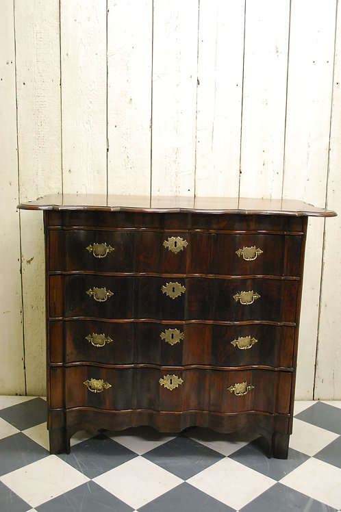 Antique 18th Century Rosewood Dutch Commode / Chest of Drawers Ref: 274