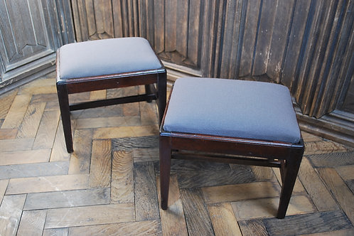 Small Pair of Georgian Mahogany Stools