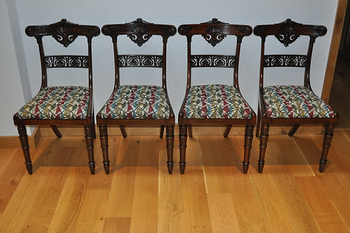 Set of Four Regency Rosewood Chairs