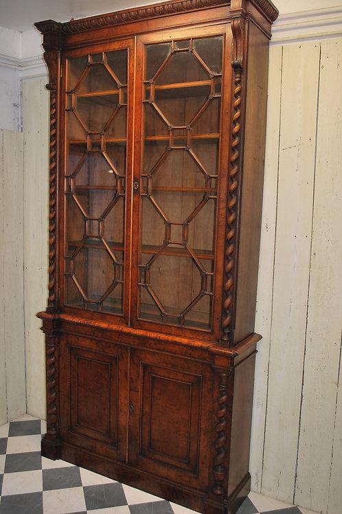 Irish Pollard oak library bookcase