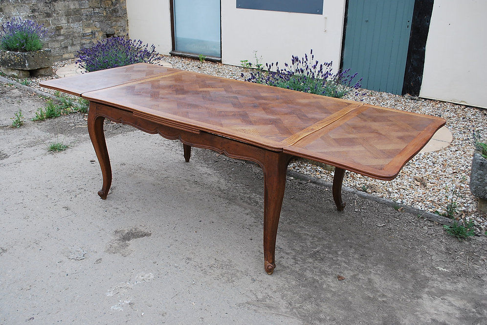 French Parquetry Extending Table