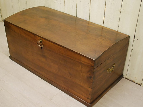 Antique Walnut Travel Trunk /Chest