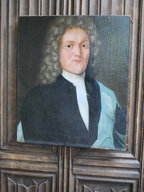 18th Century Portrait of a Gentleman in a Wig