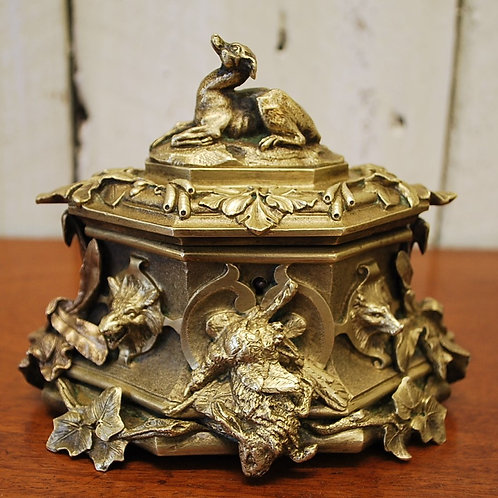 French Solid Brass Casket/box