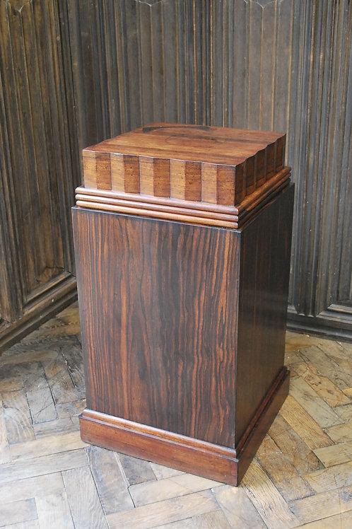 Art deco rosewood pedestal/plinth