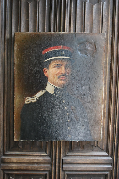 Oil Painting of a WW1 French Officer in Uniform