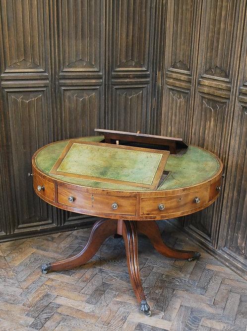 Mahogany drum/centre library table