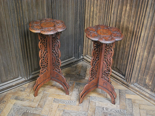 Decorative Pair of Indian Table Stands