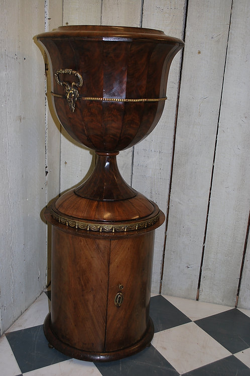 Unusual Mahogany Urn Jardiniere / Wine Cooler
