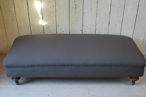 Large Antique Upholstered Ottoman/Stool