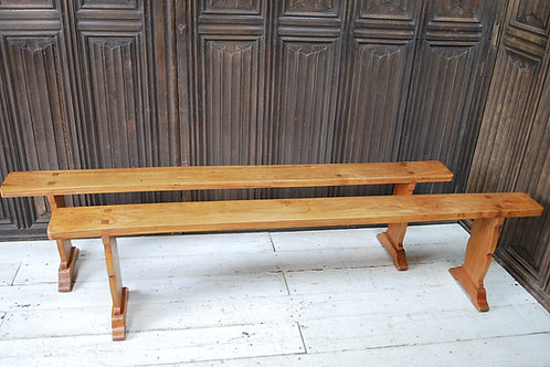 Pair of French cherry wood Benches