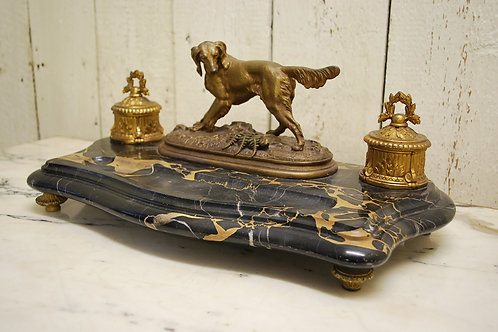 A Good Quality Antique French Standish Desk Tidy Ref: 297