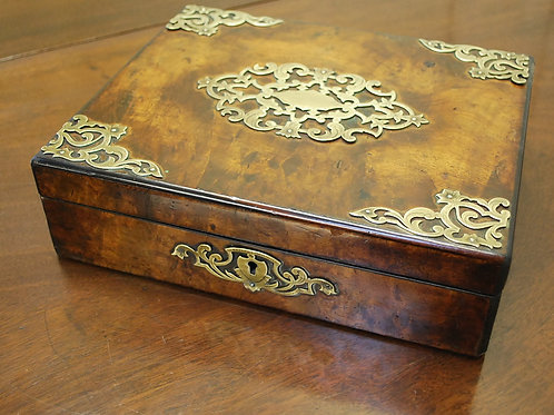 Antique Victorian Burr Walnut Box