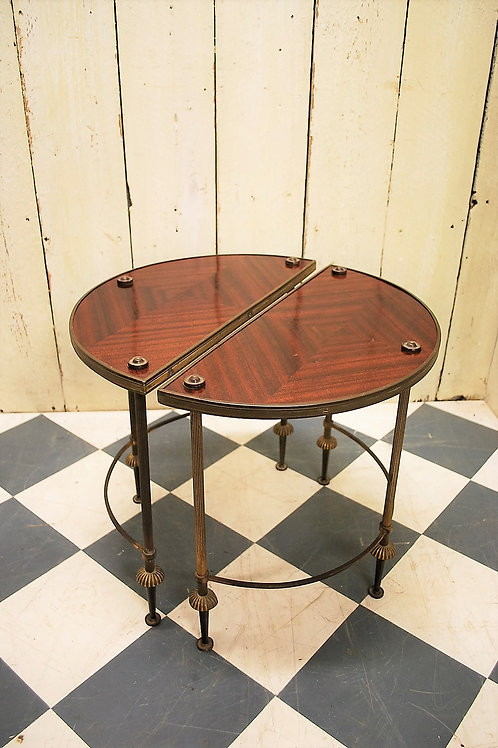 Pair of French Demi Lune Occasional Coffee Tables