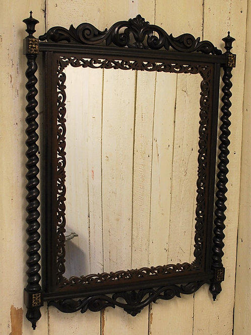Colonial Rosewood Wall Hanging Mirror