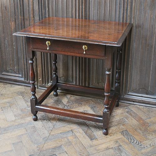 Early Oak Country  Side Table