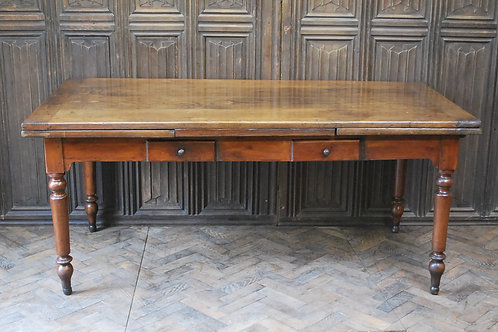 French extending mixed wood farmhouse table
