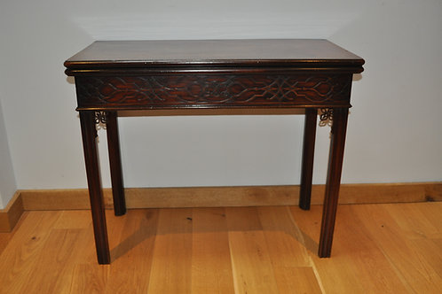 Georgian Chippendale Mahogany Tea Table / Side Table