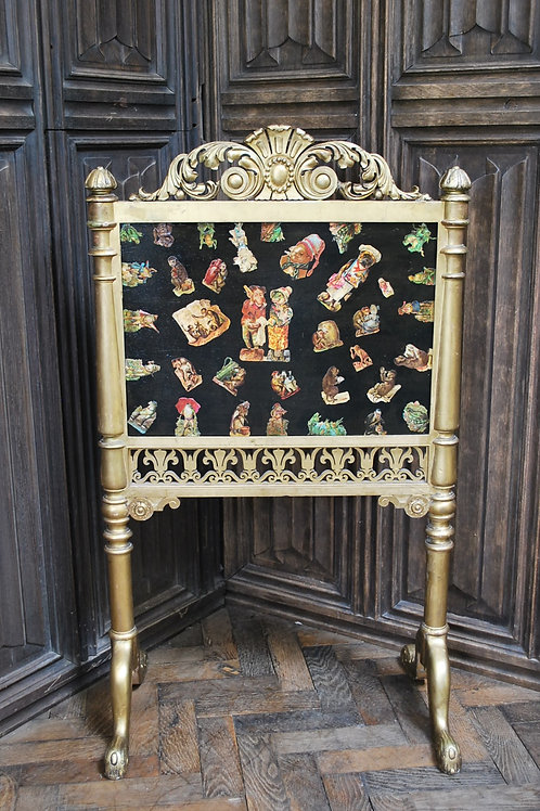 Carved Giltwood Firescreen