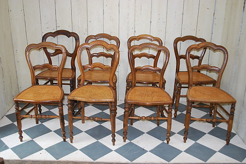 Set of Eight Antique French Bistro Chairs Ref: 267