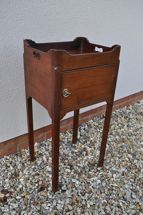 Small Tray-Top Pot Cupboard/Nightstand