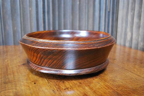 Antique Solid Elm Treen Bowl