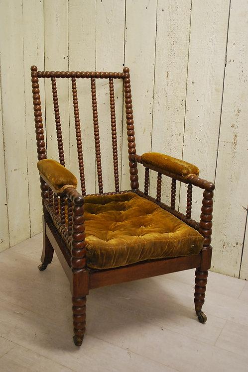 Antique Early 19th Century English Bobbin Armchair