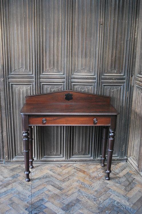 Mahogany console hall table