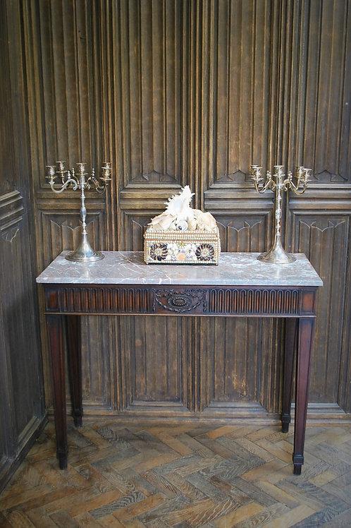 Antique Adam Stye Mahogany Console Table