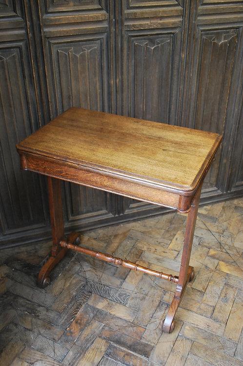 Oak occasional side tea table