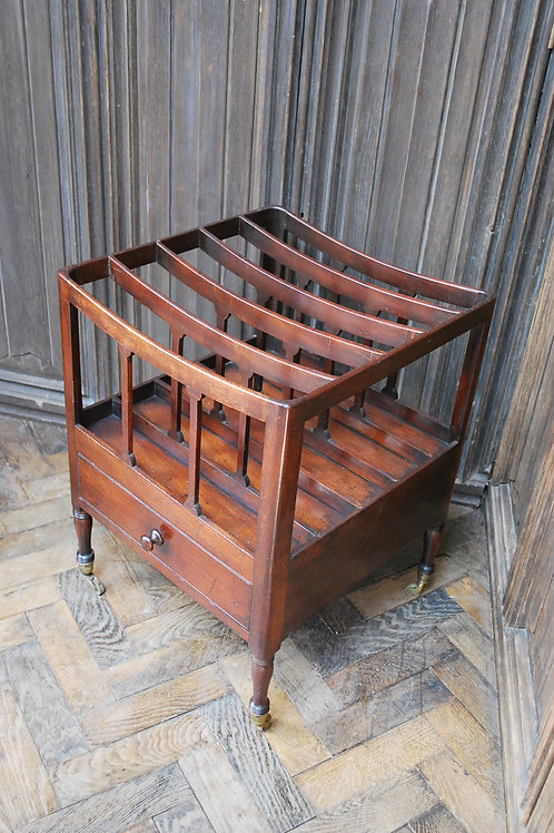Georgian Mahogany Canterbury / Magazine Rack
