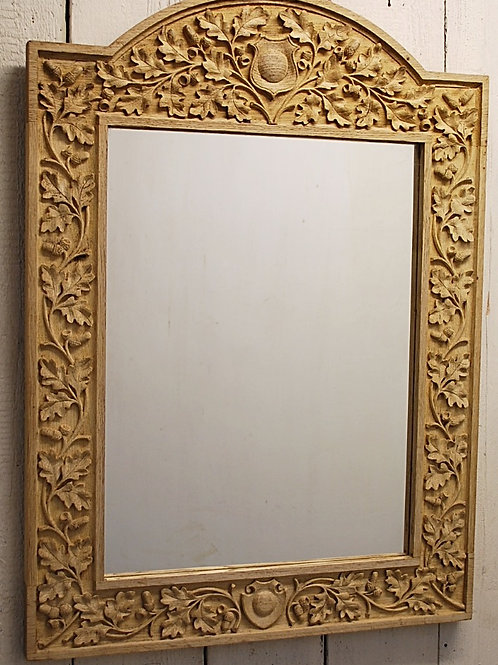 Bleached overmantle mirror