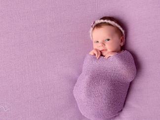 Baby E. Newborn baby girl at the studio